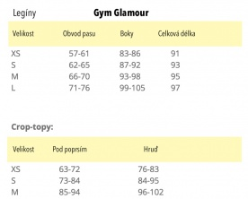 Gym Glamour Leginy Black and Colorful