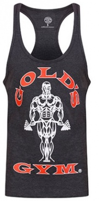 Gold's Gym pánské tílko šedé s červeno bílým logem