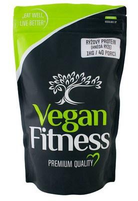 Vegan Fitness Rýžový protein (hnědá rýže) 1000 g PROŠLÉ DMT