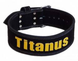 Titánus fitness opasek Powerlifting černý (jednoduchá přezka)