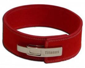 Titánus fitness opasek s pákovou přezkou 10/8 červený