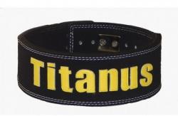 Titánus fitness opasek s pákovou přezkou 10/8 černý