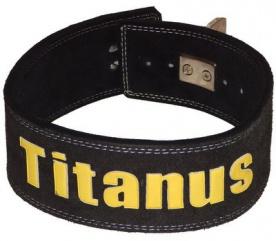 Titánus fitness opasek s pákovou přezkou černý