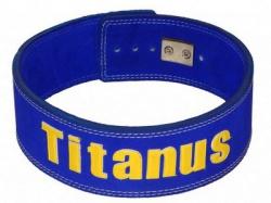 Titánus fitness opasek s pákovou přezkou modrý