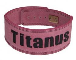 Titánus fitness opasek s pákovou přezkou růžový