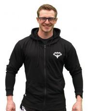 Titánus mikina na zip s kapucí černá