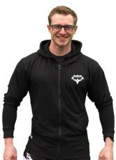 Titánus elastická mikina na zip s kapucí černá