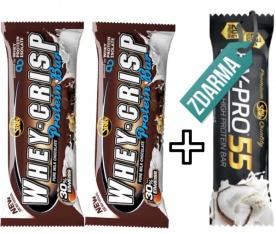 All Stars Whey-Crisp Protein Bar 50 g 2 + 1 Hy-Pro 55g ZDARMA