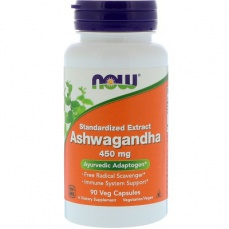 Now Foods Ashwaganda (Vitánie snodárná) 450 mg 90 kapslí