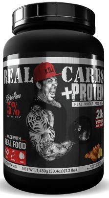 5% Nutrition Rich Piana Real Carbs + Protein 1430 g - BLueberry Cobbler