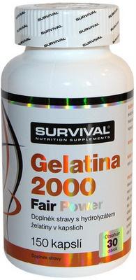 Survival Gelatina 2000 Fair Power 150 kapslí PROŠLÉ DMT