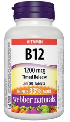 webber Naturals Vitamin B12 80 tablet