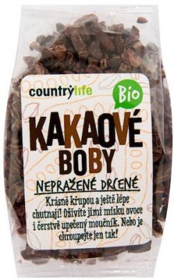 Country Life BIO Kakaové boby drcené 100g