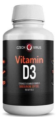 Czech Virus Vitamin D3 180 kapslí