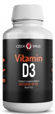 Czech Virus Vitamin D3 180 kapslí