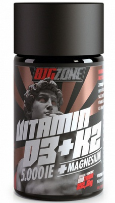 Big Zone Vitamin D3 + K2 + Magnesium 90 tablet