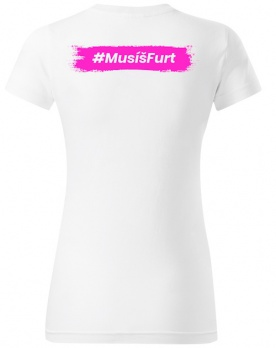 Fitness007 Dámské tričko bílé #musíšfurt