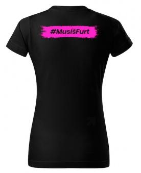 Fitness007 Dámské tričko černé #musíšfurt