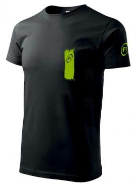 Fitness007 Pánské tričko černé #musíšfurt