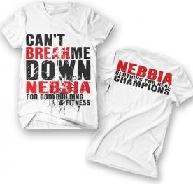 Nebbia Bodybuilding T-shirt 997 bílé