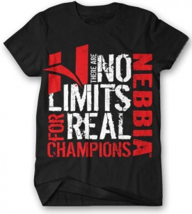 Nebbia Bodybuilding T-shirt No Limit 996 černé
