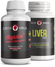 Czech Virus Algastin Natural Astaxanthin 60 kapslí + Liver MAX 100 kapslí VÝHODNÝ BALÍČEK