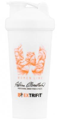 Extrifit Šejkr Women Line 600 ml bílá