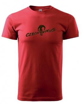 Czech Virus Basic pánské triko červené