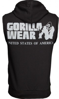 Gorilla Wear Pánská vesta Springfield S/L Zipped Hoodie Black