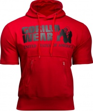 Gorilla Wear Pánská mikina Boston Short Sleeve Hoodie Red
