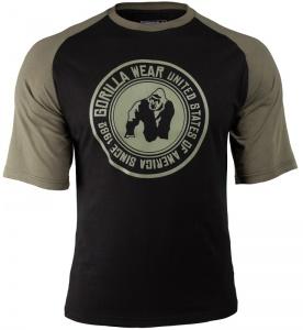 Gorilla Wear Pánské tričko Texas T-shirt Black/Army Green