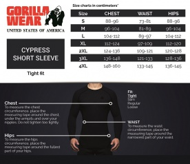 Gorilla Wear Pánské tričko Cypress Rashguard Short Sleeves Black/Army Green