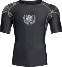 Gorilla Wear Pánské tričko Cypress Rashguard Short Sleeves Black/Grey camo