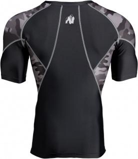 Gorilla Wear Pánské tričko Cypress Rashguard Short Sleeves Black/Grey camo