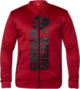 Gorilla Wear Pánská mikina Ballinger Track Jacket Red