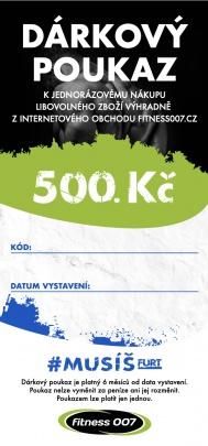 Dárkové poukazy Fitness007 500 Kč