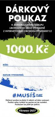 Dárkové poukazy Fitness007 1000 Kč