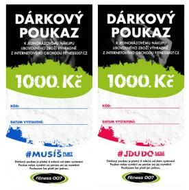 Dárkový poukaz Fitness007 1000 Kč