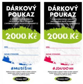 Dárkové poukazy Fitness007 2000 Kč