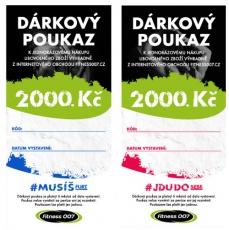 Dárkový poukaz Fitness007 2000 Kč