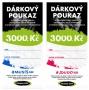 Dárkové poukazy Fitness007 3000 Kč