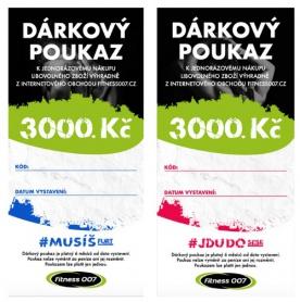 Dárkový poukaz Fitness007 3000 Kč