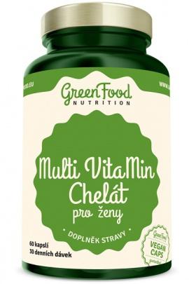 GreenFood Multi VitaMin Chelát pro ženy 60 kapslí