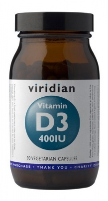 Viridian Vitamin D3 400IU 90 kapslí