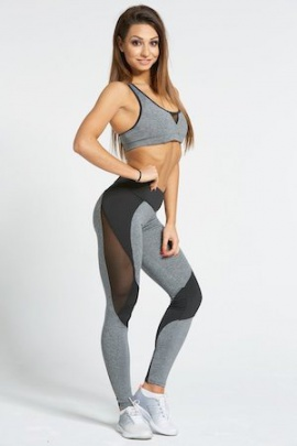 Gym Glamour Legíny Sexy Black and Grey
