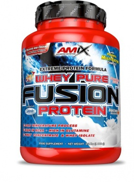 Amix Whey Pure Fusion Protein 2300g + BCAA Micro Instant Juice 300 g ZDARMA