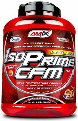 Amix IsoPrime CFM Whey Protein Isolate 2000 g + Glutamine + BCAA powders 300g ZDARMA