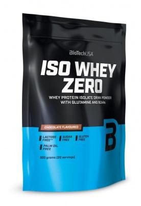 BioTechUSA Iso Whey Zero 500 g + Zero bar 50g ZDARMA