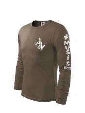 Jirka Vacek Pánské tričko s dlouhým rukávem khaki