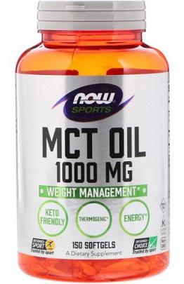 Now Foods MCT Oil 1000mg 150 kapslí